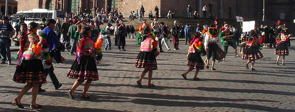 A celebration in the  main square.
