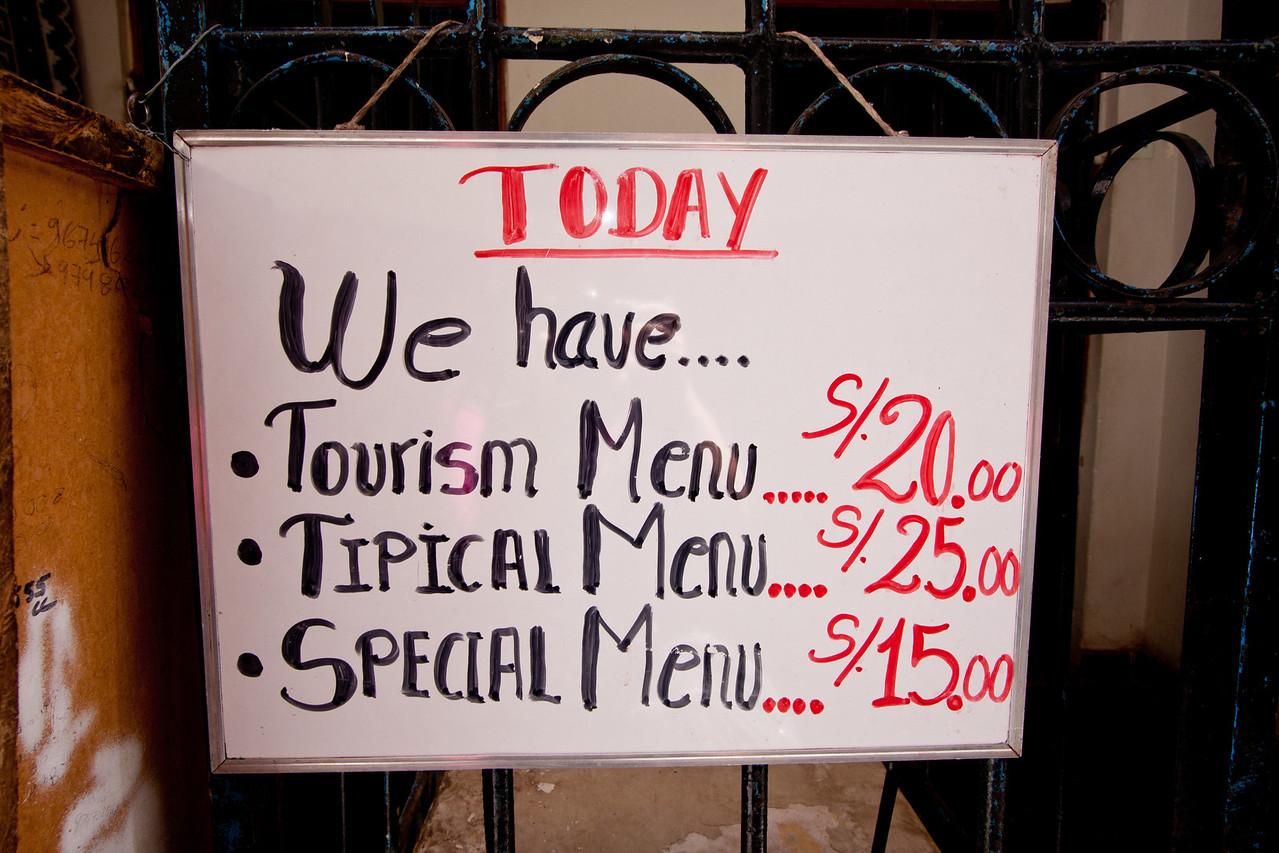 cusco food menu