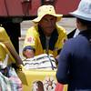 Ice cream salesman in Nasca, Peru