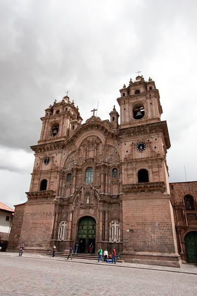 The Iglesia de la Compania de Jesus, a rival church to the cathedral.