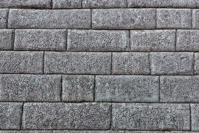 Precise stone-cutting (no iron tools) work of the Incas. Machu Picchu