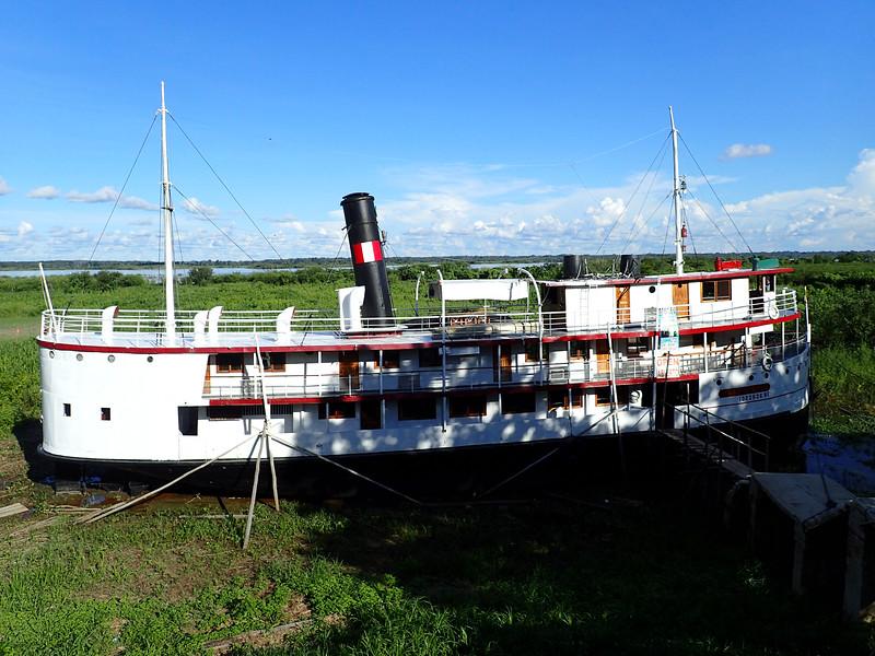 Retored 1905 Rubber Baron River Boat now a museum