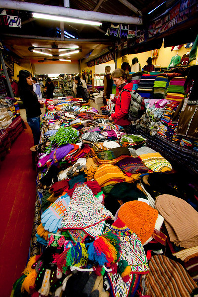 After our Cuzco city tour, we were taken to this market where they taught us how to spot fake garments made of nylon, rather than hand-made alpaca fur.