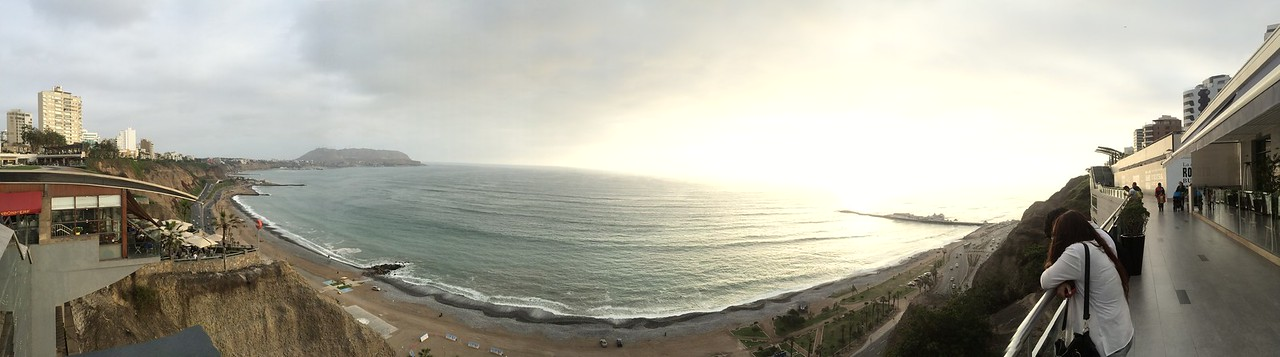 Beautiful views from Larcomar, Lima