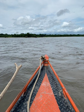 View from the motorized canoe, Madre de Dios River.