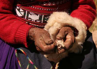 weavers hands, Taquile, Peru