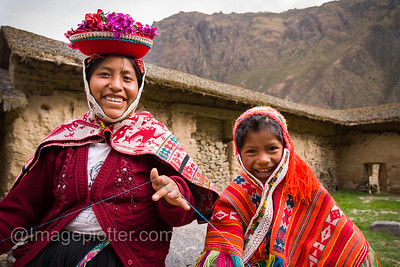 Woman and Child in Ollantayambo, Peru