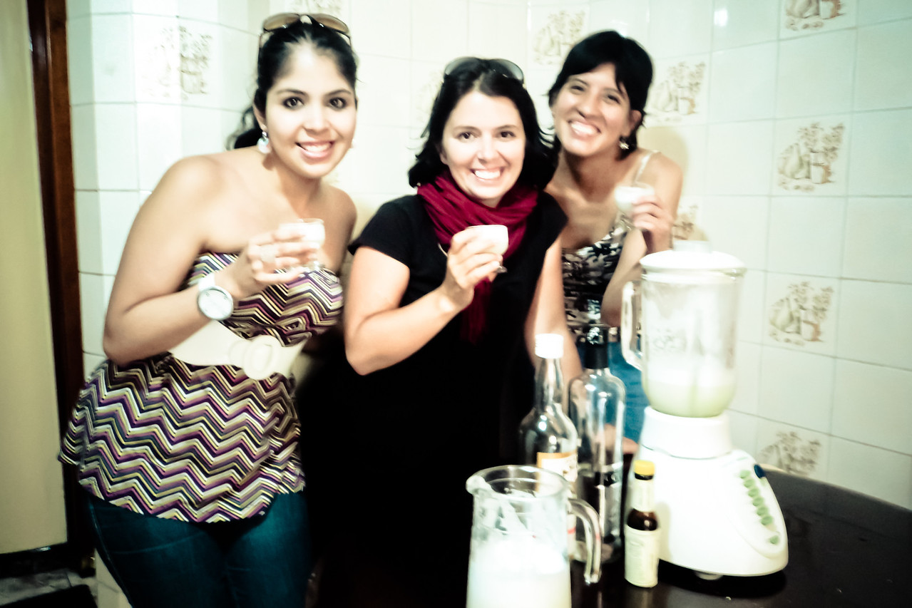 me and girls with pisco sour