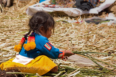 Little Girl, Uros Reed Islands, Lake Titikaka, Peru