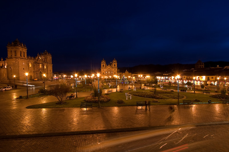Plaza de Armas - the main city square of Cuzco. There are many shops, markets, and restaurants here. There is also two historic colonial churches built by the Spaniards.
