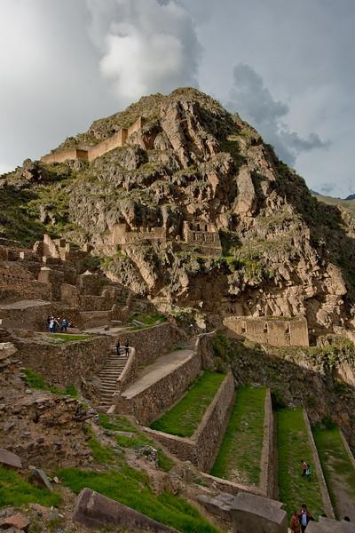 Ollantaytambo ruins and terraces.