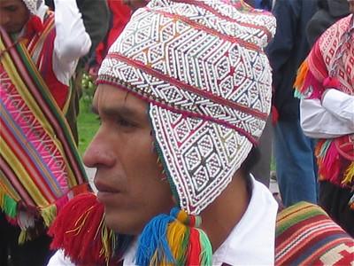 In de week voor Pasen komen veel indianen uit de omgeving naar Cuzco om de processie van de Heer van de Aardbevingen te vieren, Peru.