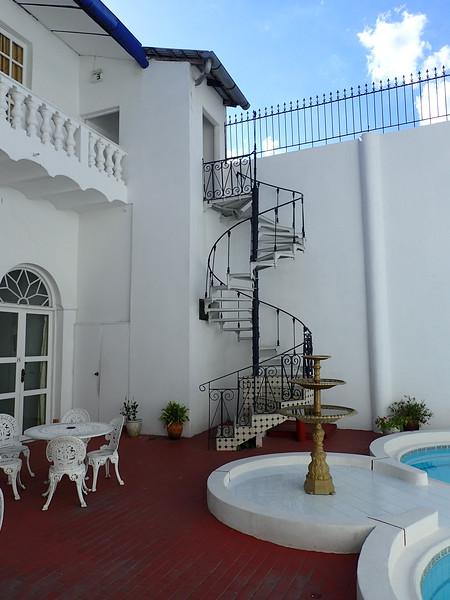 Court yard and pool at Casa Morey