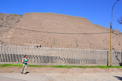 Huaca Pucllana ruins in the middle of Lima