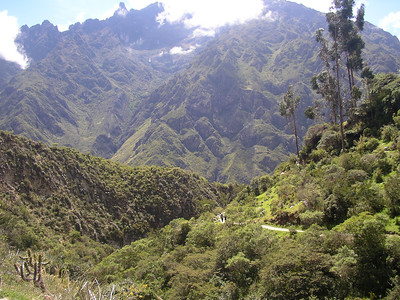 I love this picture. See the trail bottom right, with the high hills of the Andes surrounding.