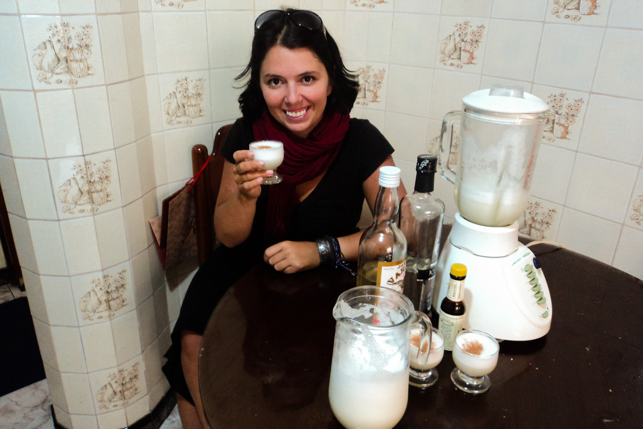 lima me with pisco sour