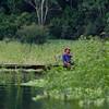 This fisherman was fishing in Lake Atun