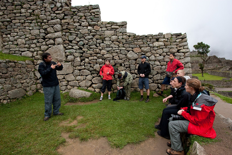 Our guide Victor telling us about the history of how Machu Picchu was found and different theories of what experts think the site was used for.