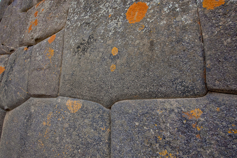 Notice the irregular shapes of the stones and how they were made to fit each other perfectly. Again, no space between the stones and no mortar was used. These walls have survived many earthquakes throughout the years.