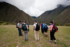 We stopped at this open patch to take a peek at the ruins down in the valley and the guides talked to us about the history of the Sacred Valley and Inca Trail.