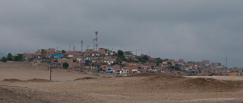 Shantytown near the Pachacamac ruins.