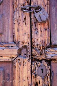 Old Door and Lock, Peru