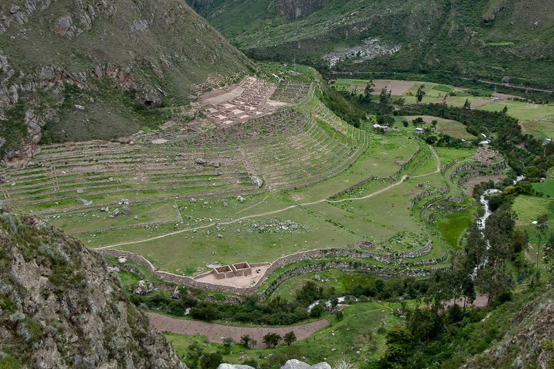 Ruins and terraces.