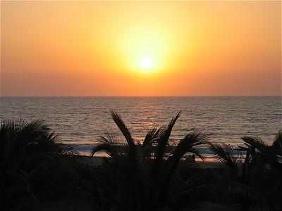 Sunset in Mancora, Peru.