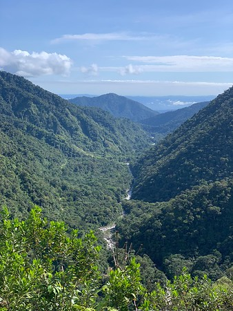 Looking down Cosnipata Valley towards the Amazon Basin in Manu National Park