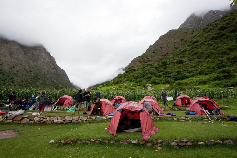 Campsite, not too shabby.