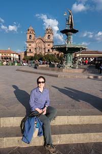 Jamie at Plaza de Armas, Cuzco