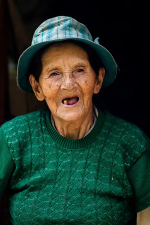 Trinidad, a 92 year old native of Manu who lives at 8,000 in the foothills of the cloud forests. She subsides primarily off of the forest and is excited that more people are beginning to visit her valley.