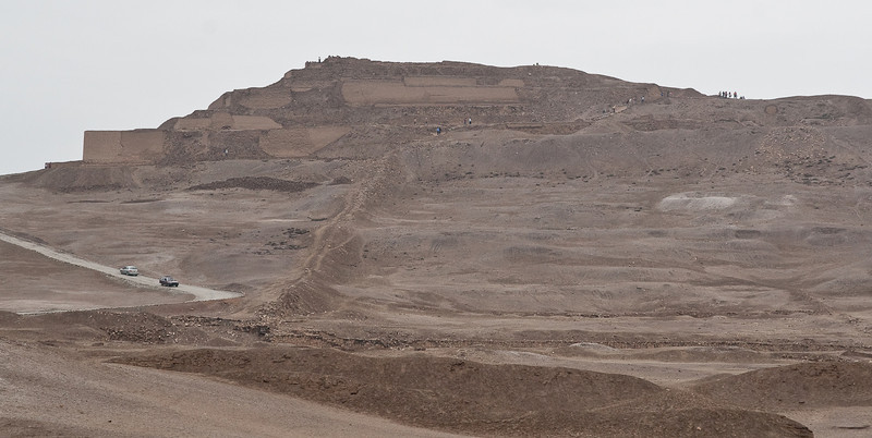 Back in Lima. These are the Pachacamac ruins just outside of Lima. Since this area is near the ocean and there were not any rock quarries nearby, the structures were made from Adobe bricks, which were mainly mud and sand. These ruins are in a pretty poor state, as natural erosion occurs whenever ever it rains and there just isn't much funding to restore the area.