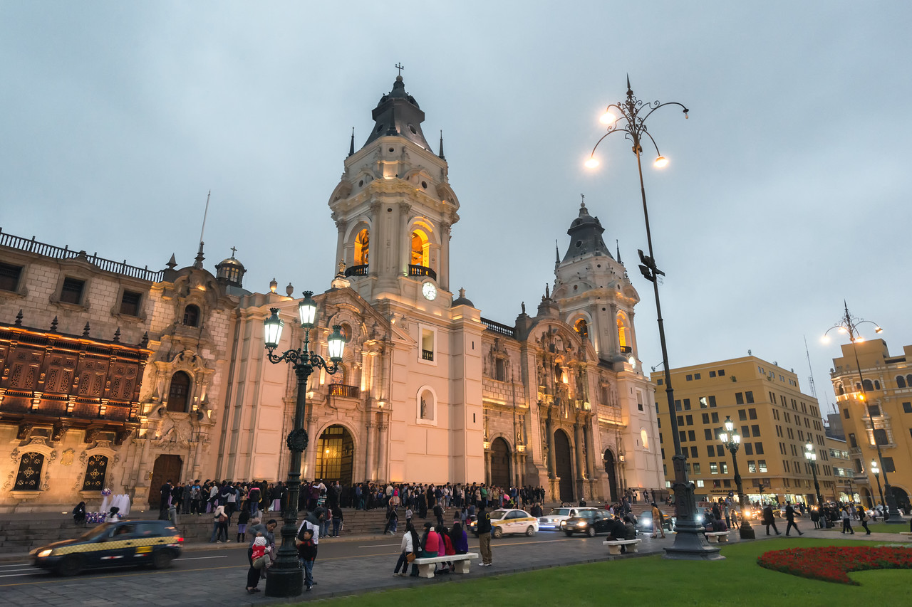 Catedral de Lima from Plaza Mayor