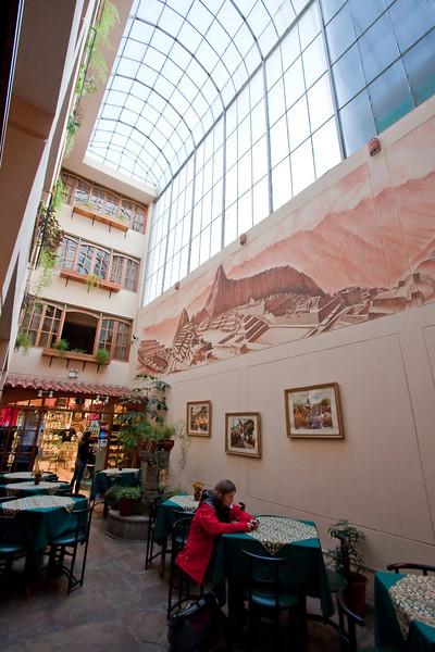 main atrium inside of our hotel.