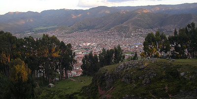 Picture of Cuzco showing the stadium.