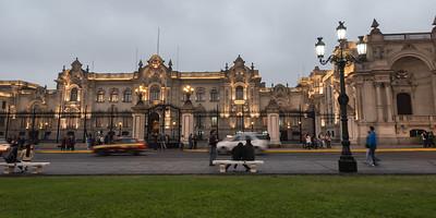 Palacio de Gobierno del Peru.  Shot taken from Plaza Mayor, Lima.