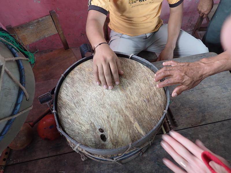 Pecary skin drum