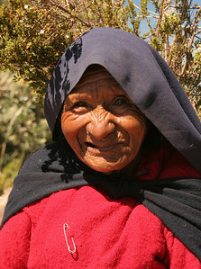 old lady of Taquile, Lake Titicaca, Peru