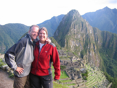 Teamfoto Machu Picchu, Peru.