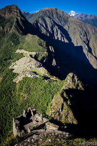 High above the Ancient City on Huayna Picchu