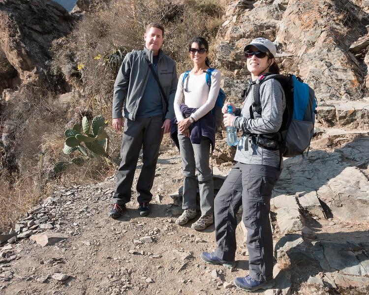 John, Ann and Jamie en route to ruins - Ollantaytambo