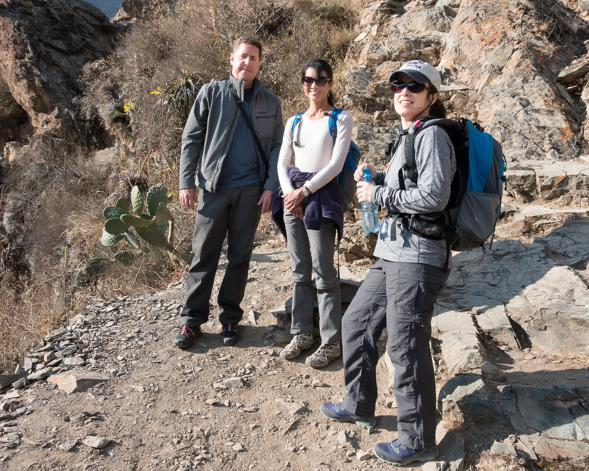 John, Ann and Jamie en route to ruins - Ollantaytambo