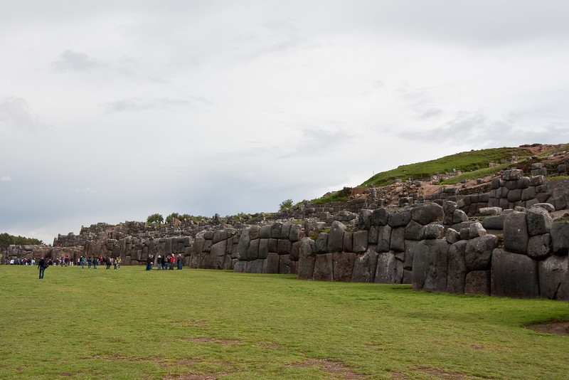 Sacsayhuamán - Ancient ruins just outside of Cuzco. The main structure is a stone wall that extends about 400 meters. Some of these stones weigh in excess of 100 tons and to this day no one really knows how the Incas (or pre-Incas) moved them.