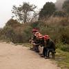 Inca Trail Day 3 - Chasquis taking a break