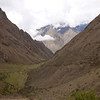 Inca Trail Day 2 - Looking back along the Rio Cusichaca valley