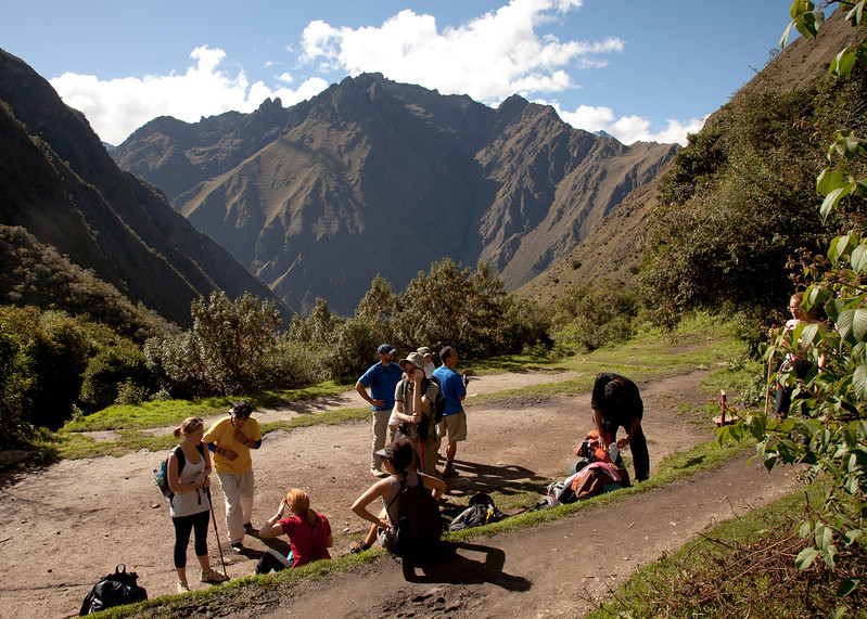 Inca Trail Day 2 - Lunch break