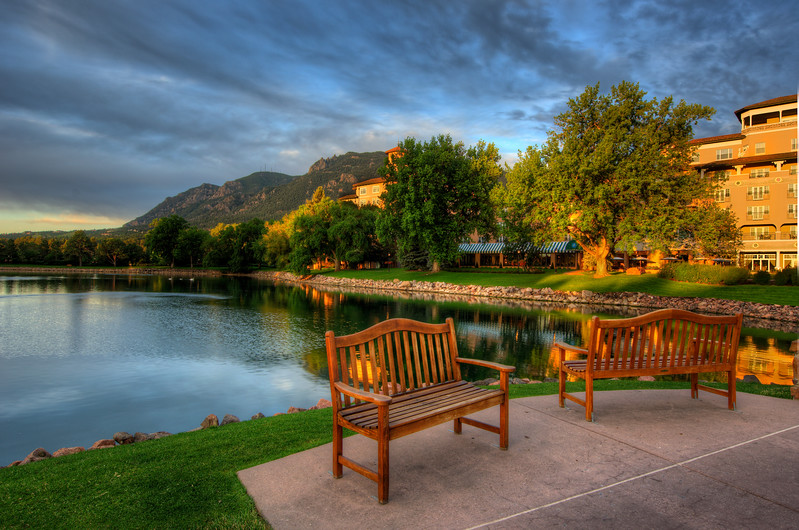 Cheyenne Mountain from the Broadmoor