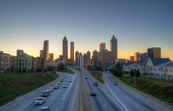 Old School Atlanta Skyline