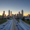 Old School Atlanta Skyline